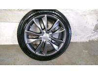 ALLOYS X 4 OF GENUINE AUDI A3/17/INCH/FULLY POWDERCOATED IN A NEW SPEC ANTHRACITE VERY NICE ALLOYS