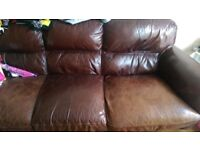 Broen leather 3 seater