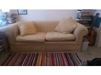 Comfy sunflower yellow sofa