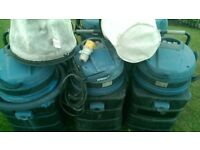 JOB LOT: 3 x Soteco Vegas 429 - 2600W Industrial Vacuum Cleaner / Wet Vac & 2 x Filters.