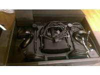 Oculous rift virtual reality headset with touch controllers