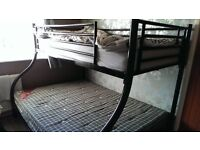 Bunk-bed for sale - single mattress at the top, double matress at the bottom - very good condition!