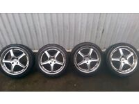 "Fox RS 18"" Alloy Wheels and Tyres, Ford, Peugeot, Citroen 4x108"