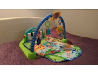 Fisher Price Kick & Play baby piano gym green