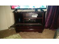 used solid mahogany tv unit