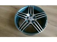 "SET OF 4 X MERCEDES 18"" AMG TRIPLE SPOKE STYLE ALLOY WHEELS NEW BOXED"