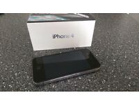 Apple iPhone 4 16GB Black - decent condition but crack on the back
