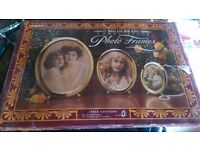 Brand New Boxed 3 Brass Picture Frames