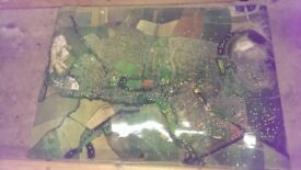 REDUCED..... MALTBY Rotherham giant aerial laminated satellite photo 6ft x 4ft pit checks colliery