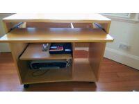 John Lewis Computer Desk - Beech Veneer