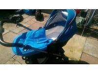 Silver Cross Wayfarer Blue Pushchair