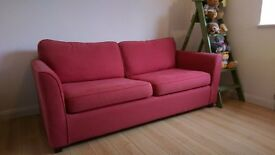 "Sofa Workshop Red ""Carrie"" Sofa Bed - Three Seater"
