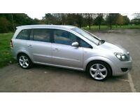 Vauxhall Zafira 1.9cdt, 150hp, new MOT, 7 seater