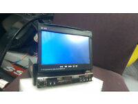 2 FAULTY GPS SINGLE DIN IN CAR DVD PLAYERS---COMES WITH ALL ACCESSORIES ETC