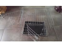 "Medium Folding Pet Crate Size 24""(W)x17""(D) x19""(H)"