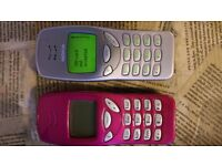 Two Nokia 3210 in Perfect Working Order each for £20 both for £35 NO OFFERS one unlocked