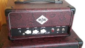 MJW Roadstar Cub Prototype 1W Guitar Amp Head Power Scaling Point-To-Point Hand Wired Mini Marshall