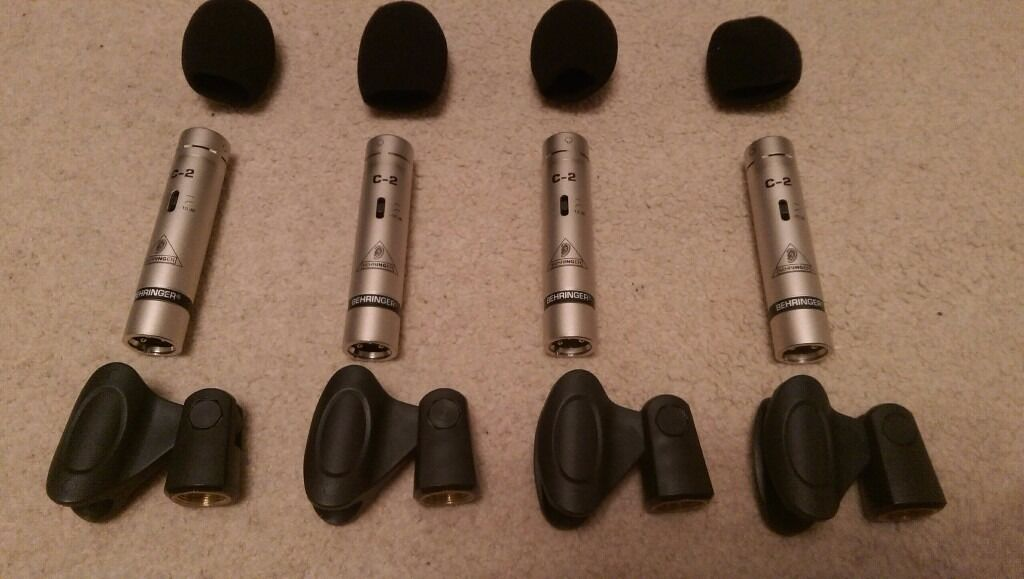 Behringer Studio Condenser Microphones C-2 x4 *COLLECTION ONLY*