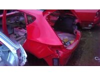 2016 MK3 SEAT LEON BARE SHELL IN RED DAMAGED SPARES OR REPAIR