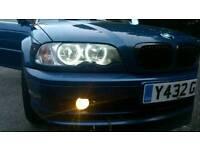 2001 BMW 320 coupe topaz blue e46