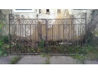 Pair of Wrough Iron Driveway Gates - Very Heavy Solid Gates