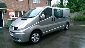 RENAULT TRAFIC L129 SPORT CREWCAB, TOP SPECIFICATION, VERY LOW MILEAGE, 1 PRIVATE OWNER FROM NEW.