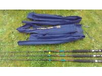 3 X SHAKESPEAR SAPHIRE UGLY STICK BOAT SEA FISHING RODS 20LB USED ONCE £10 EACH