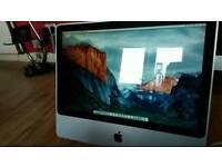 iMac 20 inch 500GB HDD 4GB RAM