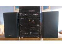 Technics stack complete system, SH-E65, SU-X955, SL-PJ46A, ST-X999L, RS-X980