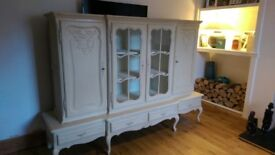 Louis Armoire XV dresser/display cabinet, Annie Sloan 'Old Ochre' chalk paint