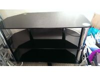 tv stand and tall table