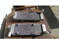 Honda XR650R Radiators / Rads, NO TEXTS..