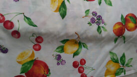 Fabric remnant - Fruits pattern cotton Upholstery Fabric - 5m available