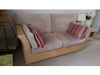 Conservatory Furniture Three Seater & Two Seater Cane Suite