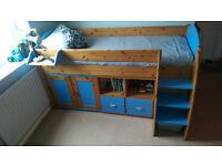 Stompa Rhonda Cabin Bed with Storage units and Wardrobe
