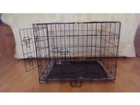 """Dog Crate / Puppy Cage 30"""" Medium Black With Metal Tray NEW"""