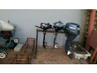 Outboard Motors: Yamaha 15hp and 2.5hp : both 4 stroke : Suzuki 2.2hp : 2 stroke