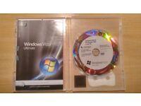 Windows Vista Ultimate OEM DVD + Product Key/Label