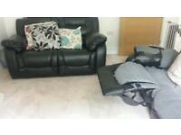 Recliner sofa 3 and 2 seater if ad is on its available should go today