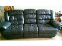 Free 2 and 3 seats real leather recliner sofas