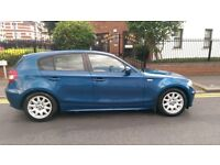 BMW 118 diesel 5 door hatchback blue with full service history.
