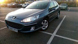 2007 Peugeot 407 SW 1.6 HDi SE 5dr; low mileage; service history;very cheap to run/tax/insure;