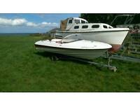 14ft Speedboat on trailer. Speed boat / Rib / needs outboard