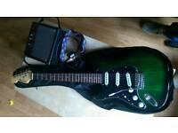 Benson Electric Guitar & Amp (Metallic Green Sunburst)