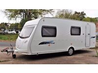 2009 LUNAR ZENITH, 6 BERTH CARAVAN - FIXED BUNKS WITH FULL SIZE AWNING - LIGHT WEIGHT - EXTRAS!