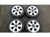 4 X LEXUS IS200/IS220/Similar 16'' ALLOY WHEELS & 205/55/16 NEARLY NEW TYRES CAN FIT MAZDA, TOYOTA