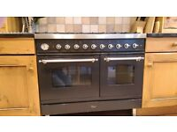 Britannia 1000mm Dual Fuel – Multi-function - Twin Electric Ovens – 6 Gas Ring - SI-10T6-GRA-CH