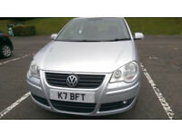 Volkswagen Polo Comfortline 1.4 petrol, 2007 reg, 5D, very low mileage, aircon, 2xnew tyres