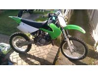 Kawasaki kx85 motocross bike