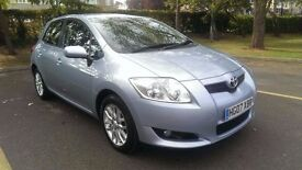 2007/07 Toyota Auris TR 1.6 VVT-i 5dr, blue, 56k, service history, long MOT, mature owners from new